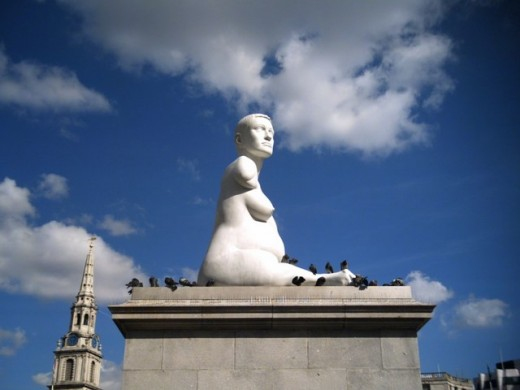 Alison Lapper pregnant by Mark Quinn - on the Fourth plinth, Trafalgar Square, London