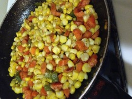 Home Made Roasted Corn Salsa