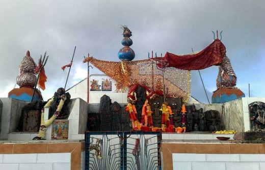 Shikari Devi temple at 1404 meters at Karsog in Mandi