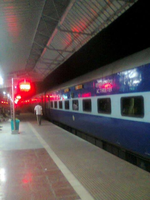 Train at Indian Railway Station