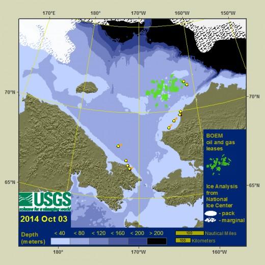 Walrus radio-tracking in the Chukchi Sea 2014