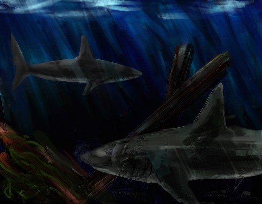 Sharks avoid glare by hiding from the sun underwater. Sneaky. But iPads don't like water, so we need another solution.