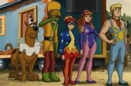 Scooby, Shaggy, Velma, Daphne, and Fred