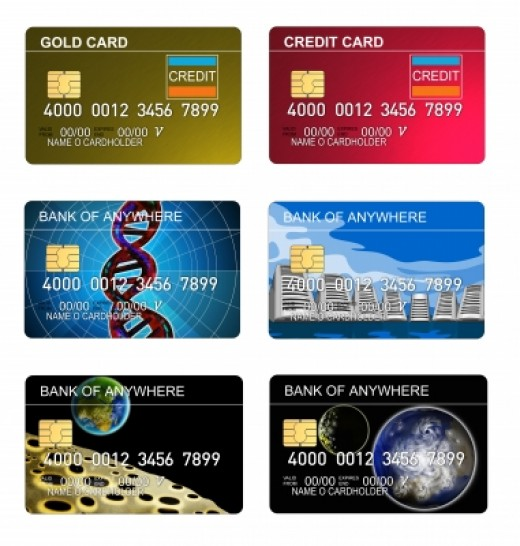 Credit cards offered by banks