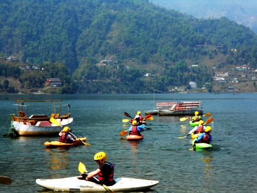 KAYAKING in Phewa Lake
