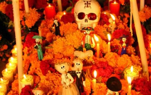 Flor de Muertos (marigolds)