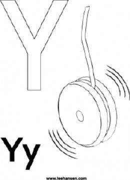 Letter Y Coloring Page