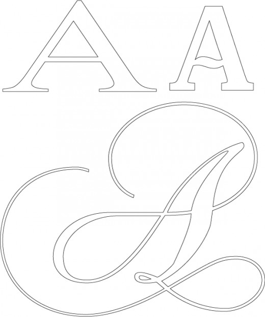 Fancy Letter A Design Samples