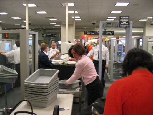 Going through airport security