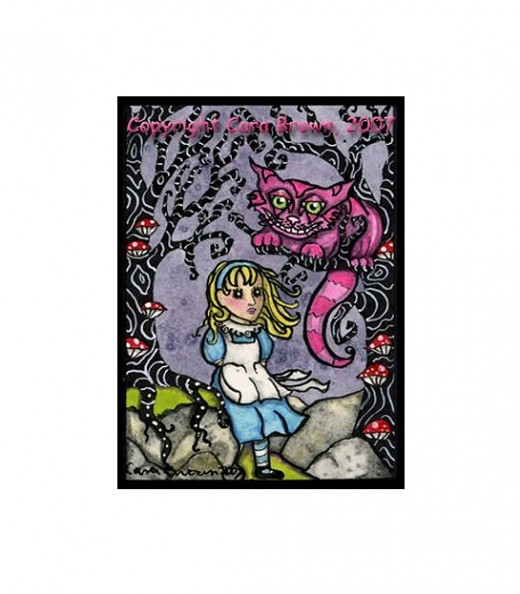 """Alice and Cheshire"" by Cara Brown"