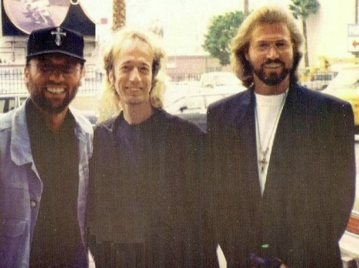 Taken in 1992 in Los Angeles, the Bee Gees.