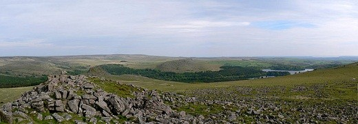 This is a typical Dartmoor landscape