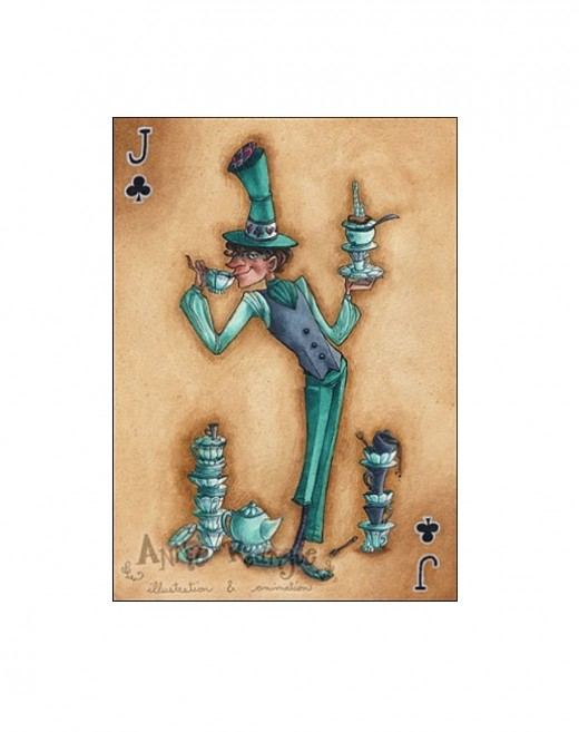 """The Mad Hatter--Jack of Clubs"" by Annie Rodrigue"