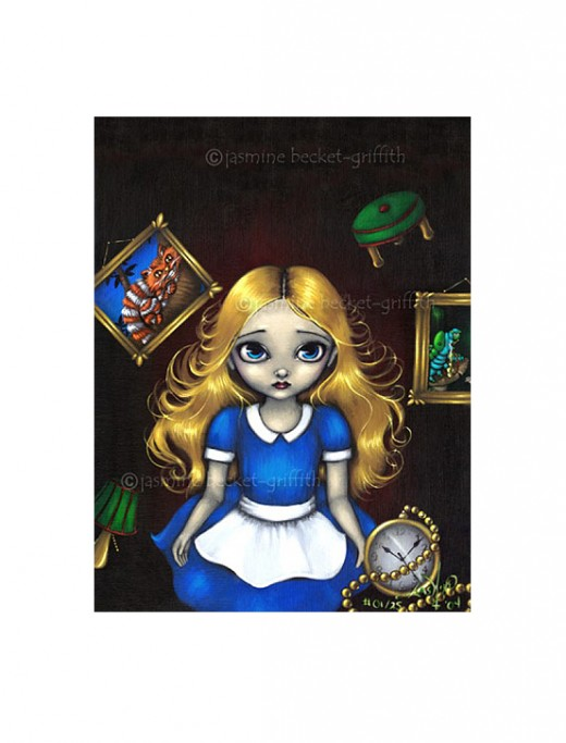 """Alice Falling Down the Rabbit Hole"" by Jasmine Becket-Griffith"
