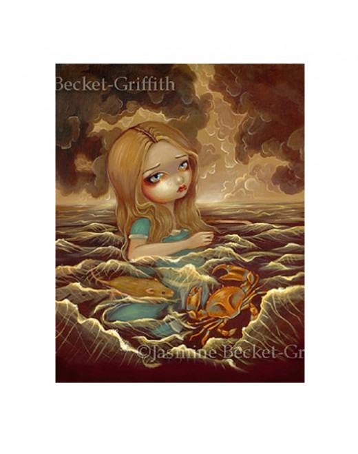 """Alice in the Pool of Tears"" by Jasmine Becket-Griffith"