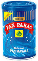 It is a combination of Betel Nuts, Cardamom, Lime, Catechu and Natural perfumes.Pan Parag is a revolutionary edible product in India equivalent to a Cigarette or Alcohol.