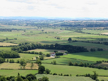 A view over the Somerset Levels from Glastonbury Tor
