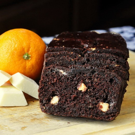 orange Chocolate Banana bread....with white chocolate....