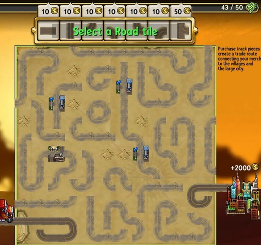 Play the Caravan game to win gold.