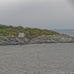Short lighthouse at the east passage of the bay.