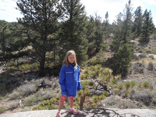 Greta Fleck, our granddaughter at Vedauwoo