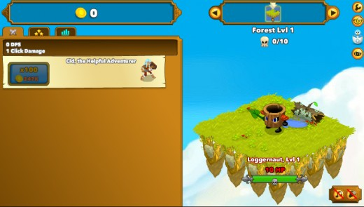 The very first enemy in browser-based game Clicker Heroes. Gotta start somewhere.