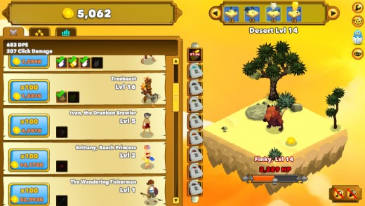 The first few Heroes in Clicker Heroes. These guys start off good, but they're quickly overshadowed by stronger upgrades.