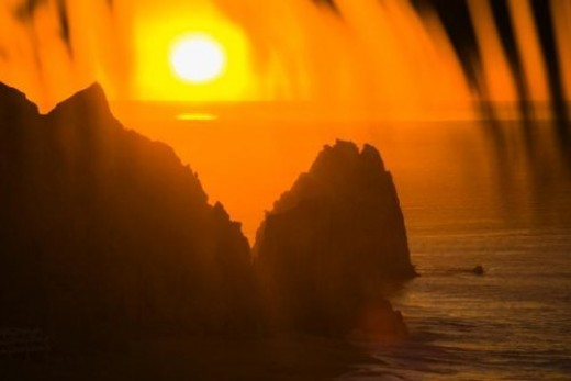 Rocky Coast at Cabo San Lucas (in sunset)