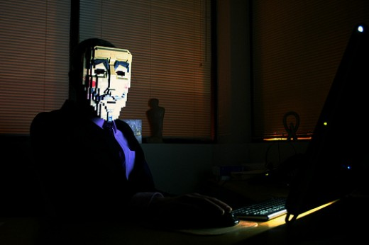 Faceless Computer Hacker