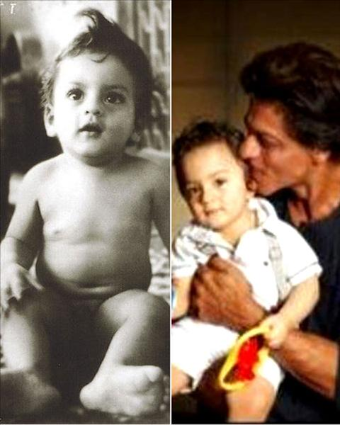 fter trying to keep him away from the media, on the auspicious occasion of Eid, the Happy New Year actor revealed the first picture of his son AbRam. Take a look: http://www.biscoot.com/showtym