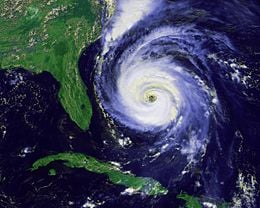 Hurricane's coverage is wide. This is dangerous to properties and lives.