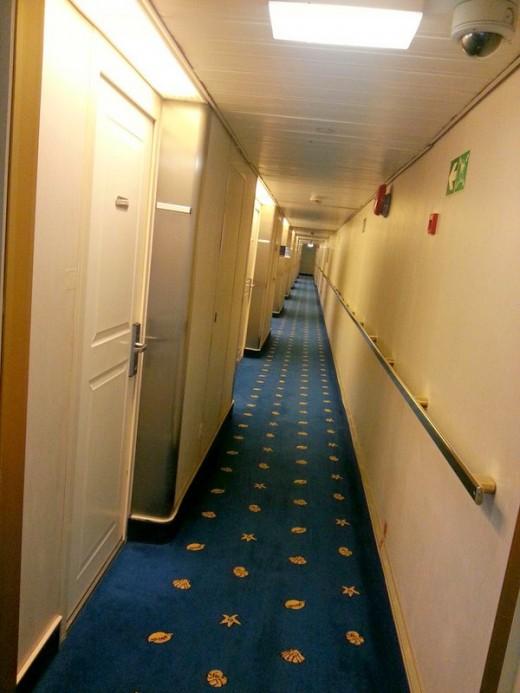 Corridor on Deck 7 of Star Cruise Superstar Libra ship