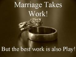 Is marriage easy if it's true love?