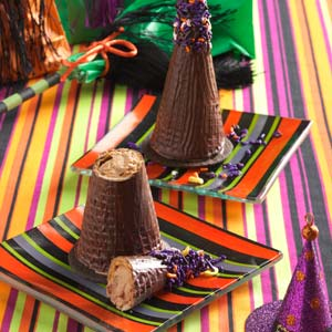 Mousse-filled witch hats:)