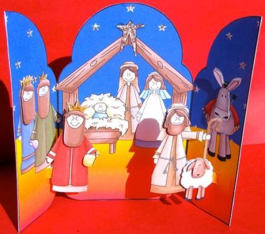 Christmas pop up card