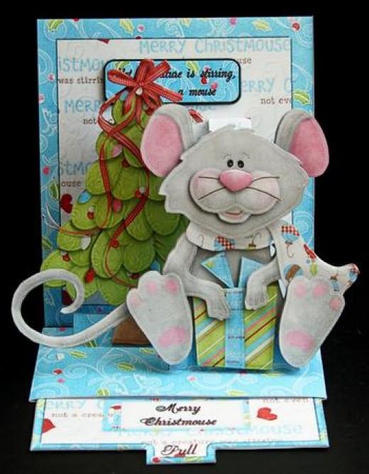 Christmas Mouse and Christmas Tree