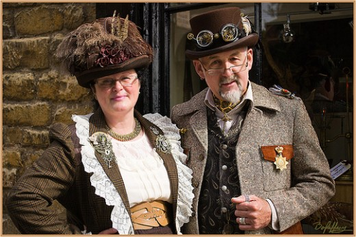 Steampunk Lady and Gent