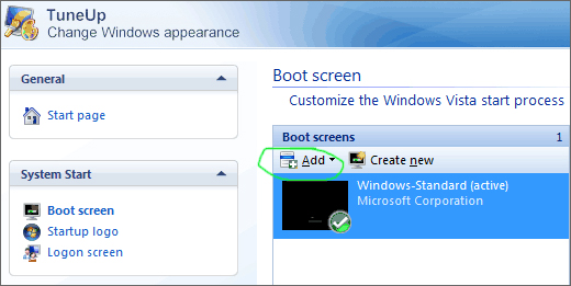 It is possible to replace the default boot screen with your own image.