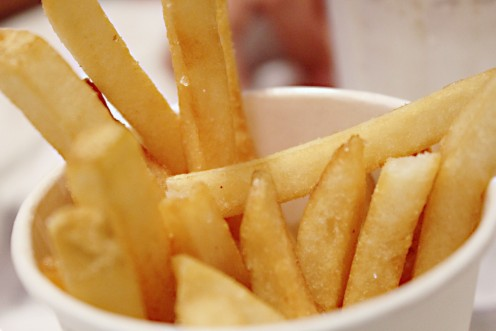 French fries or chips - a basic ingredient of poutine