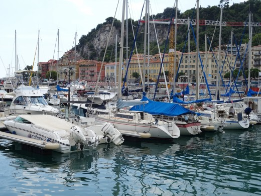 The Nice harbor and marina
