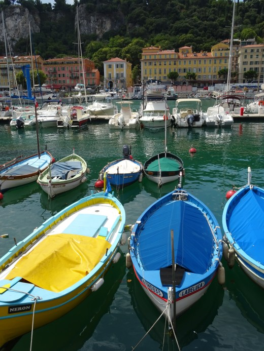 Charming boats in Nice harbor