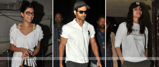 """Spotted: Alia Bhatt, Sushmita Sen & Hrithik Roshan """"FOR MORE NEWS IN BOLLYWOOD CLICK ON THE IMAGE"""" Get latest Bollywood News and Gossip VISIT BISCOOT SHOWTYM FOR FULL STORY CLICK BELOW : http://www.biscoot.com/showtym"""