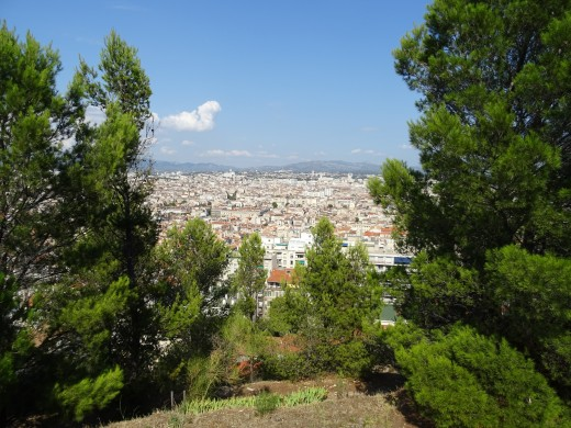 View of Nice from the hillside