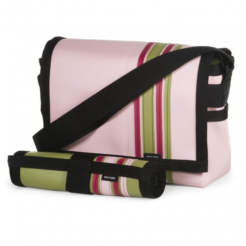 Pink Airship messenger bag