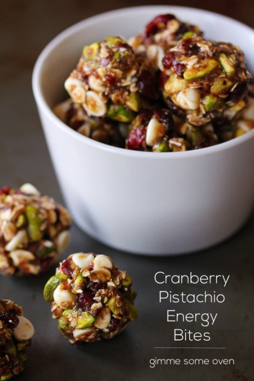 Cranberry Pistachio Energy Bites Recipe