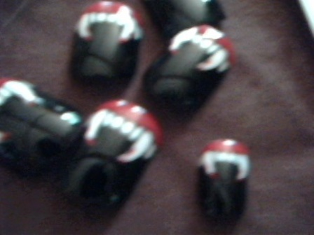 Having fun with goth theme nail art designs is a blast. Indulge your inner goth with some lovely colors, styles and designs. (Sorry, for the blurriness of the image. My hands shake. It's blurry but, its high res blurry) :)