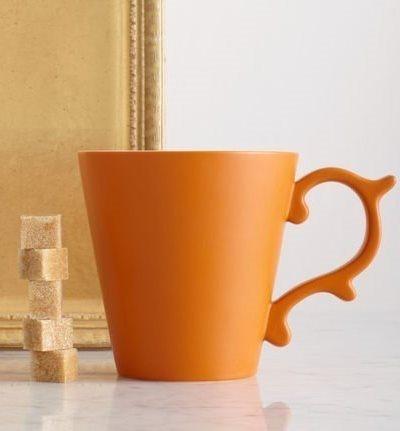 Starbucks Orange Rococo Coffee Mug