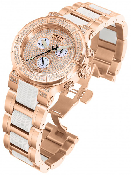 Discover the Invicta 0189 Reserve Collection Diamond 18k Rose Gold Watch