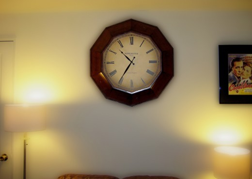 A clock perfect for modern living rooms is a great addition to your home.