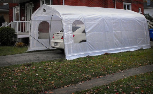 A temporary carport can be the perfect solution if you are short on funds or plan to move shortly.